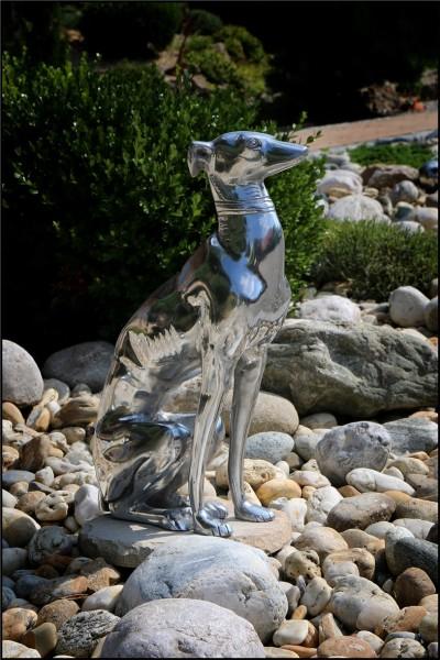 Windhundskulptur Aluminium